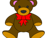 Coloring page Teddy bear painted byantonella berlar