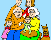 Coloring page Family  painted byla familia