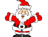 Coloring page Happy Father Christmas painted byK