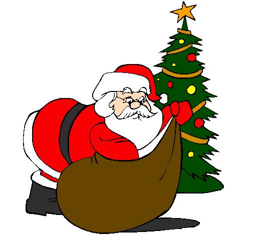 santa claus delivering presents - Santa Claus With Presents