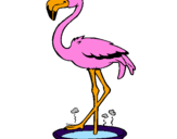Coloring page Flamingo with soaking feet  painted byalex