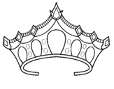 Coloring page Tiara painted byTerri