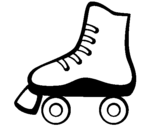 Coloring page Roller skate painted byRoller skate