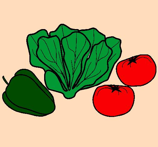 Coloring page Vegetables painted byyasmina