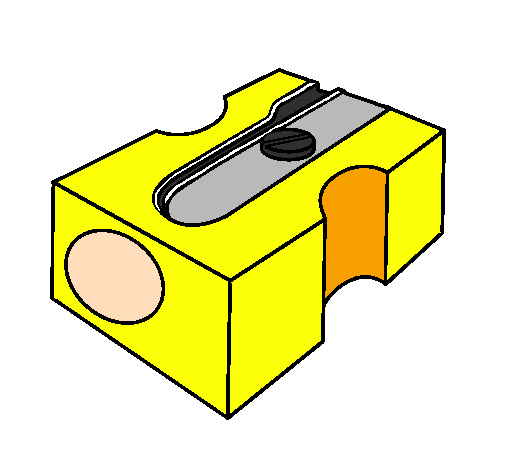 Colored page pencil sharpener ii painted by kinnary for Pencil sharpener coloring page