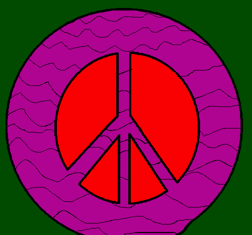 Coloring page Peace symbol painted byariel