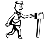 Coloring page Postman painted bykat