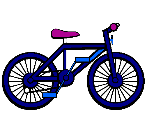 Coloring page Bike painted bytrasporte