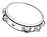Coloring page Tambourine painted bychupe