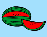 Coloring page Melon painted byMN