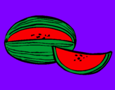 Coloring page Melon painted byMia