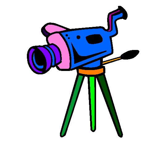 Coloring page Movie camera painted byarnau