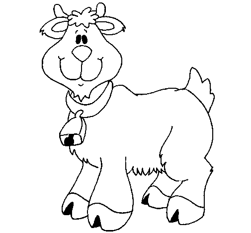 Coloring page Goat painted byTaylor