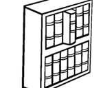 Coloring page Bookstore painted byBOOK   SHELF
