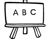 Coloring page Blackboard painted byBOARD