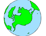 Coloring page Planet Earth painted bybeth