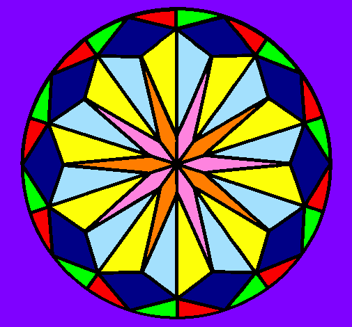 Coloring page Mandala 41 painted byvictoria moron