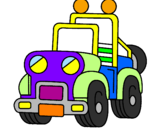 Coloring page Truck painted byPat