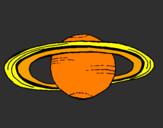 Coloring page Saturn painted bysean