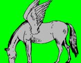 Coloring page Pegasus painted bymaggie