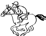 Coloring page Horse race painted bycameron