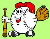 Coloring page Baseball ball painted bycristobal dbz