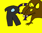Coloring page Rat painted byrafael