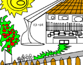 Coloring page Japanese house painted byRAFAELKKXDBKLJGTKLJOJOJGO