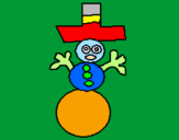 Coloring page Snowman painted byciro