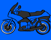 Coloring page Motorbike painted byhayley