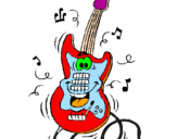 Coloring page Electric guitar painted byari