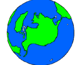 Coloring page Planet Earth painted bydaniel