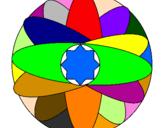 Coloring page Mandala painted byFELIZ