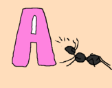 Coloring page Ant painted byANGELINA  MARIN