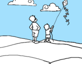 Coloring page Kite painted byPetter