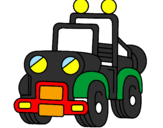 Coloring page Truck painted byJacob