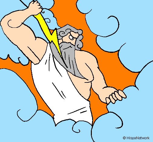 By Gatita Coloring Page Zeus Painted Byaiste112