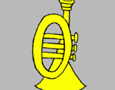 Coloring page Trumpet painted byMarga