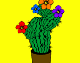 Coloring page Cactus flowers painted byRosalea