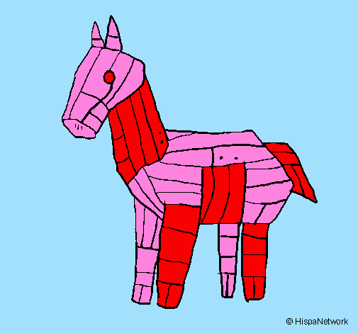 free trojan horse coloring pages - photo#35