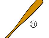 Coloring page Baseball bat and baseball ball painted byjt