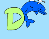 Coloring page Dolphin painted byreyna