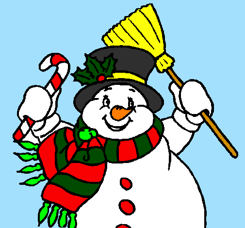 how to draw a scarf on a snowman