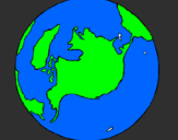 Coloring page Planet Earth painted byindian