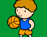 Coloring page Basketball player painted bynicolette
