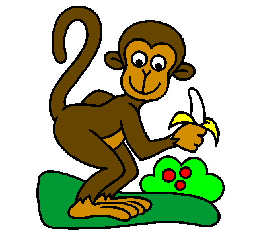 Coloring page Monkey painted byAimee