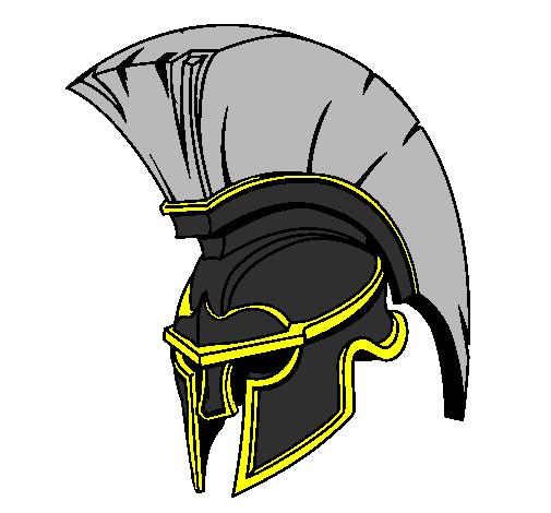 Coloring page Helmet painted bydark knight