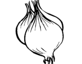 Coloring page onion painted byjoel