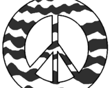 Coloring page Peace symbol painted byTRINITY