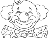 Coloring page Clown with a big grin painted bySusie